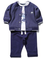 Nautical top jacket and joggers set (0 mths - 4 yrs)