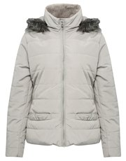 Hooded padded parka coat