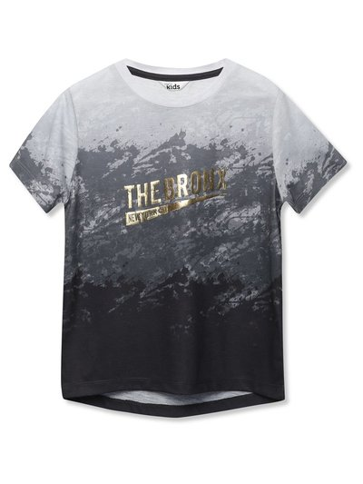 Bronx gold foil slogan t-shirt (3-12yrs)
