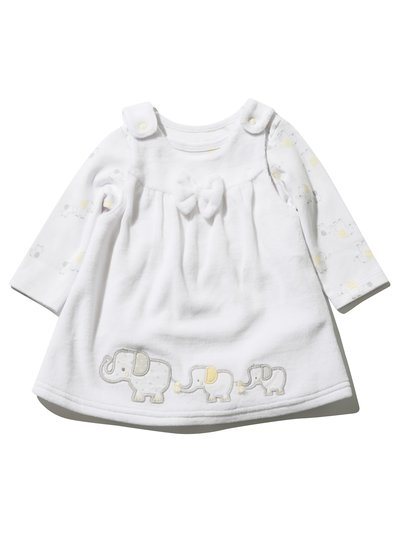 Elephant pinafore dress and body set (Newborn - 1 yr)
