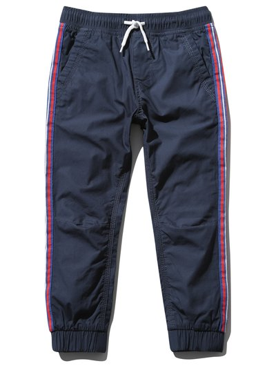 Side stripe poplin trousers (3-13yrs)