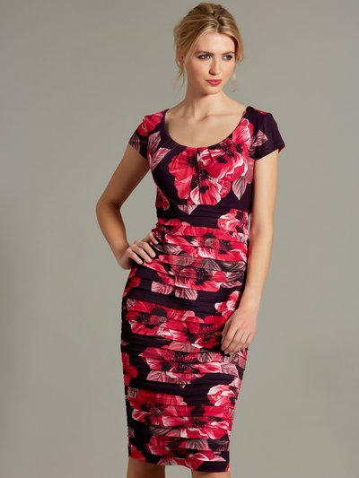 ef39029cba7 Floral shutter pencil dress