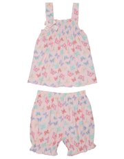 Butterfly print shorts pyjama set