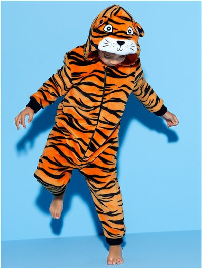 Fleece tiger onesie (1-8yrs)