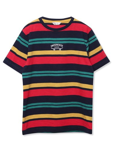Slogan striped t-shirt (3-12yrs)