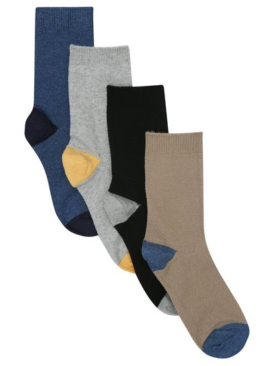 Colour block socks four pack