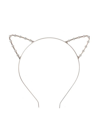Rose Gold Crystal Stone Cat Ears