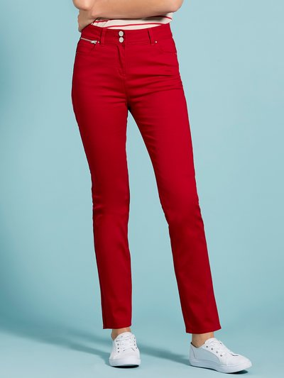 Red twill trousers