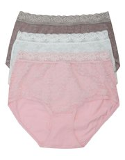 Lace full brief multipack
