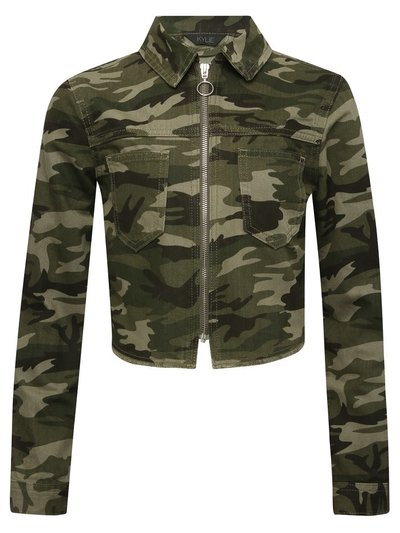 Teen camouflage denim jacket