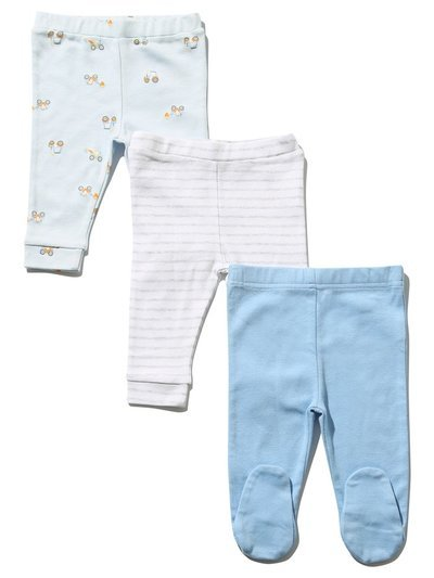 Digger stripe joggers three pack (Newborn-18mths)