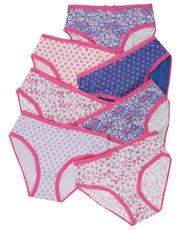 Ditsy print briefs seven pack