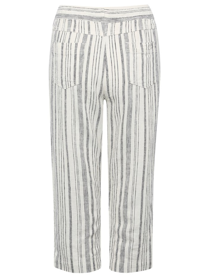 6023191c1c ... Petite striped cropped linen trousers