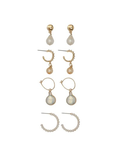 Pearl earrings six pair pack