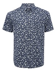 Rose print short sleeve shirt