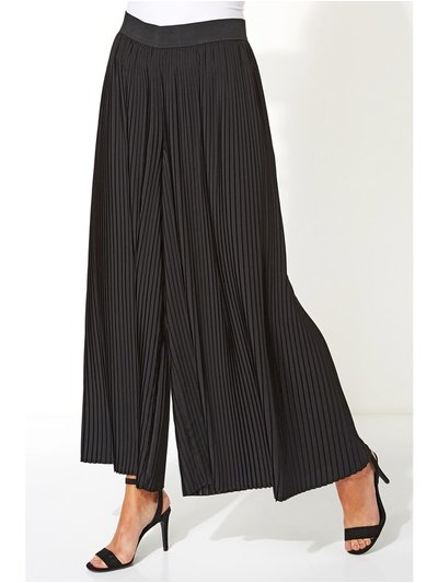 Roman Originals pleated wide leg trousers