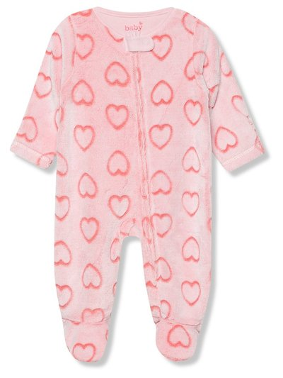 Heart fleece sleepsuit (Tinybaby-18mths)