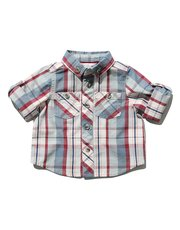 Roll up sleeve check shirt