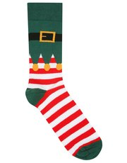 Elf festive Christmas socks