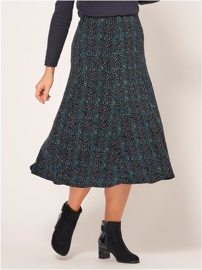 Spirt flocked a-line flippy skirt