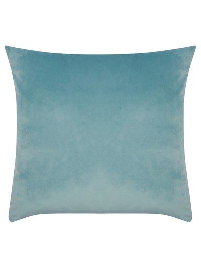 Blue velour cushion