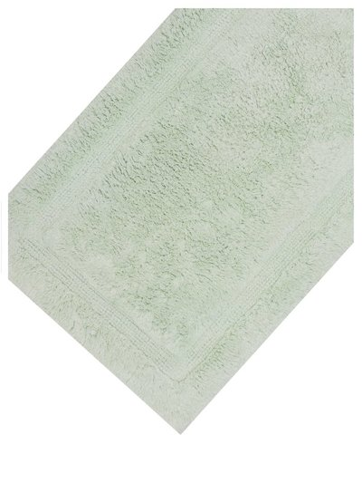 Light green cotton deep pile bathmat