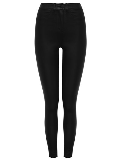 Black coated jeggings