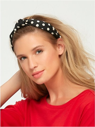 Muse spot fabric covered headband