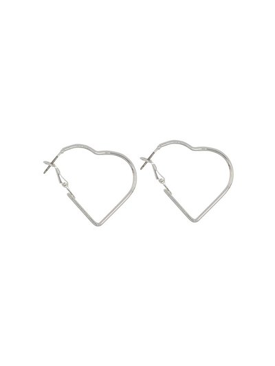 Teen heart hoop earrings