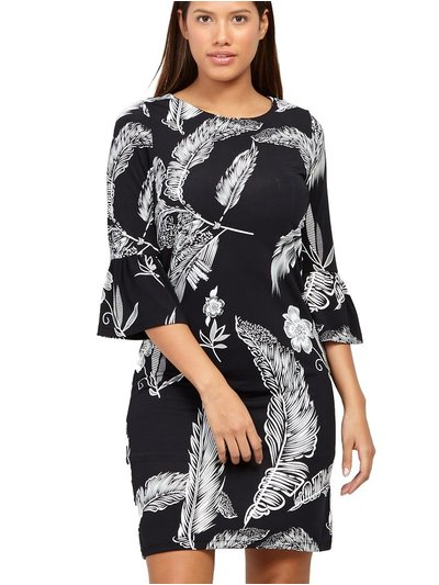 Izabel leaf print shift dress