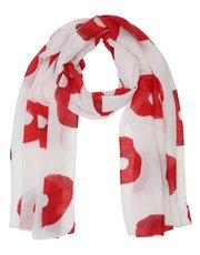 Circle print voile scarf
