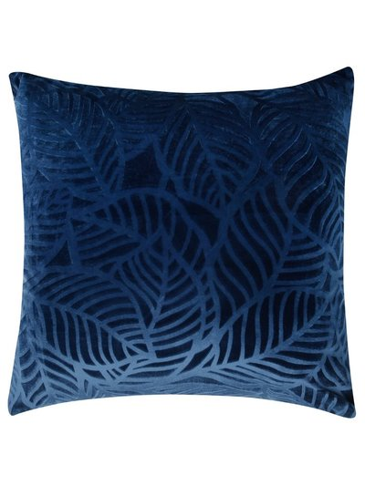 Navy leaf cushion