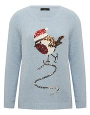 Sequin robin Christmas jumper