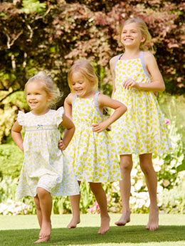 Lemon prom dress girls mini me set