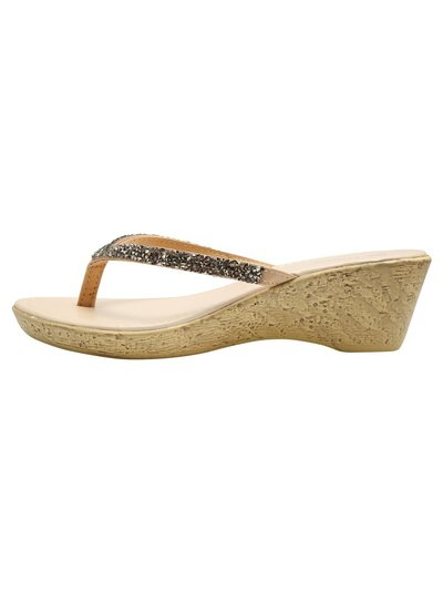Cork effect wedge sandals