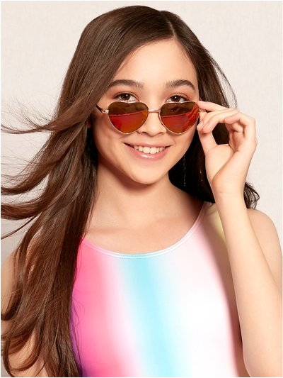 Teens' heart frame sunglasses