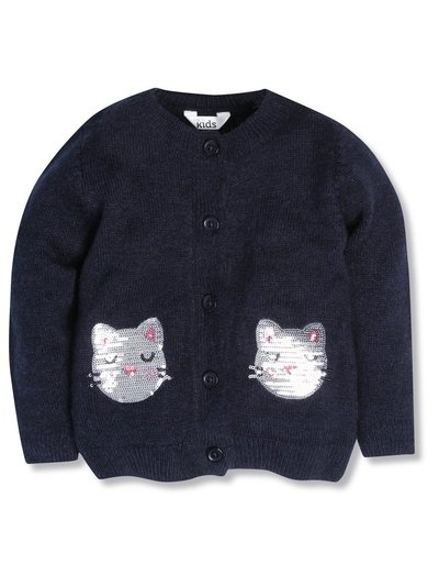 Sequin cat cardigan (9mths-5yrs)