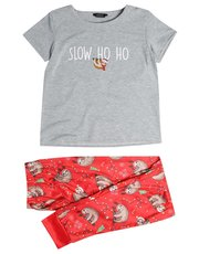 Teen sloth Christmas pyjamas
