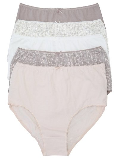 Neutral spot print full briefs multipack