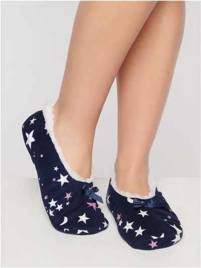 Star print slippers