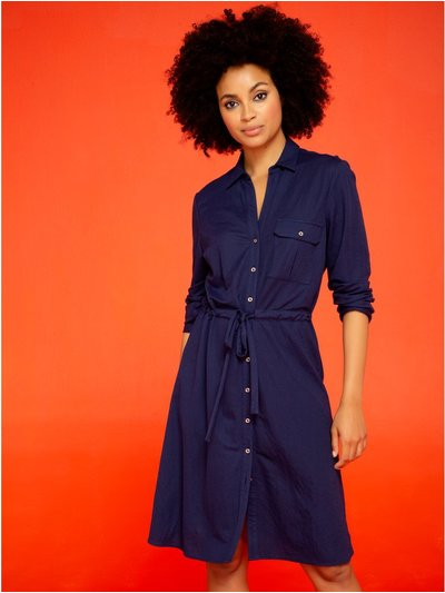Khost Clothing navy shirt dress