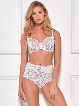 Floral Print Underwire High Waisted Lingerie Set
