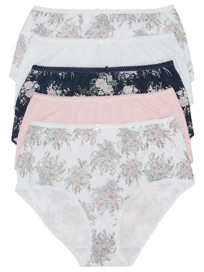 Floral print full briefs multipack