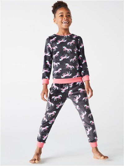 Unicorn fleece pyjamas (4-12yrs)