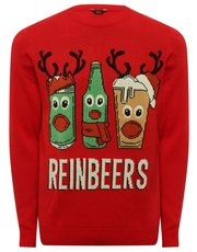 Mens reinbeer Christmas jumper