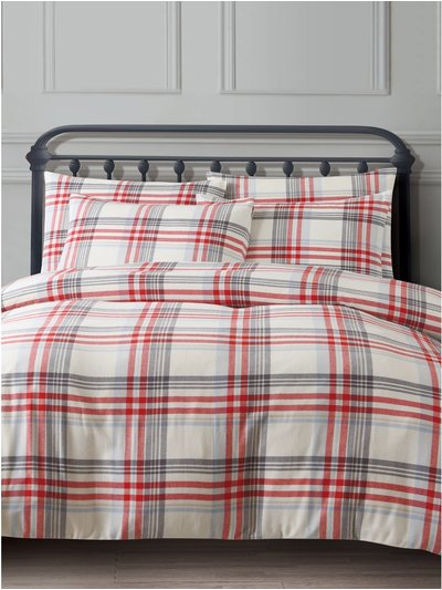 Red check duvet set