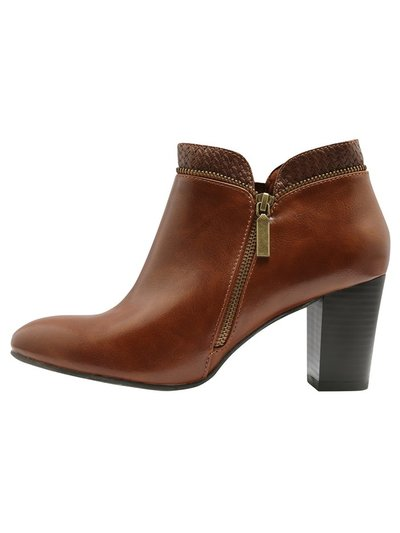Amore exposed zip block heel boot