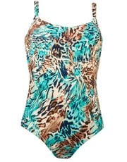 Naturana animal print swimsuit