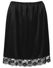 Lace trim half slip skirt