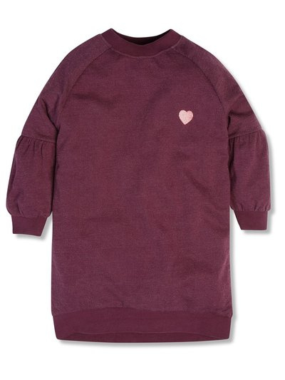 Embroidered heart sweat dress (3-12yrs)